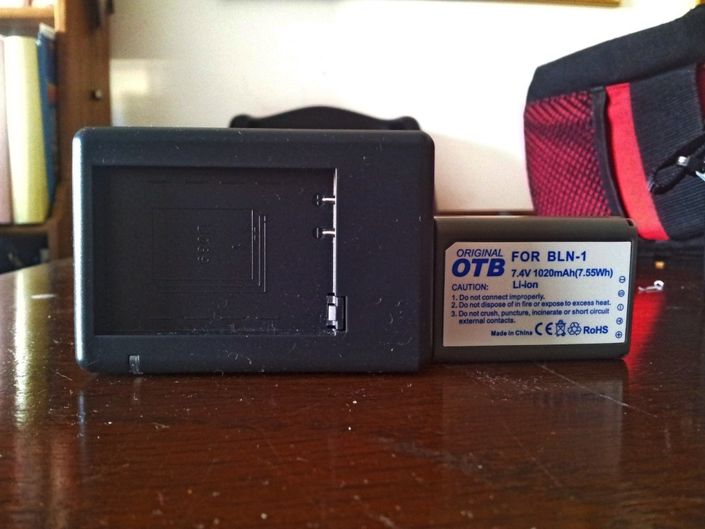 My spare battery for the Olympus Em-5